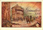 HALBERSTADT 1958 ; Heimatfest 21-29. Juni, Spielszene Der lange Matz vor dem alten Wasserturm, v. Bert Brennecke
