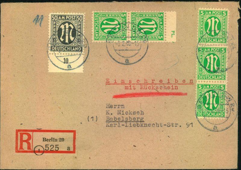 1946 fernbrief mit 8 mal 3 pfg am post deutscher druck. Black Bedroom Furniture Sets. Home Design Ideas