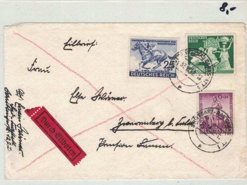 Auflösung Briefe Sammlung Drittes Reich ; STUTTGART-BAD CANNSTADT; Durch Eilboten