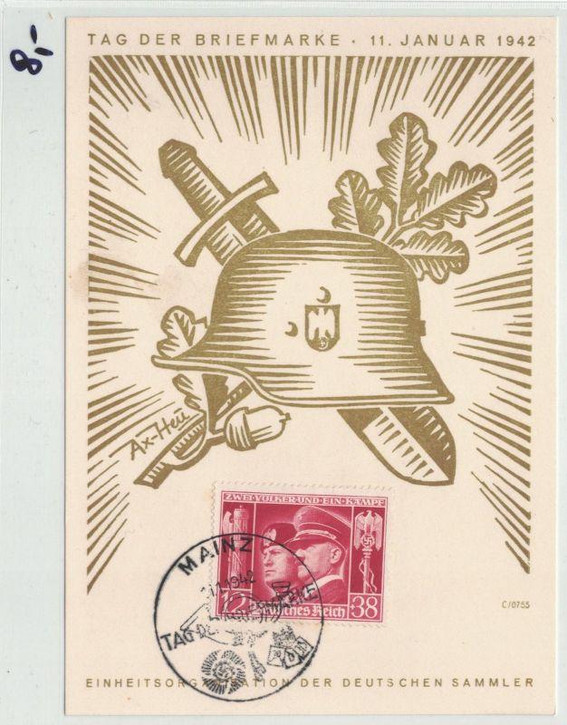 Auflösung Briefe Sammlung Drittes Reich ; MAINZ; TAG DER BRIEFMARKE 1942