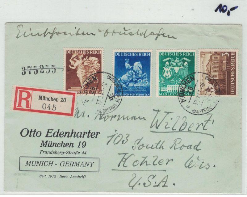 Auflösung Briefe Sammlung Drittes Reich ; MÜNCHEN 28, Einschreiben