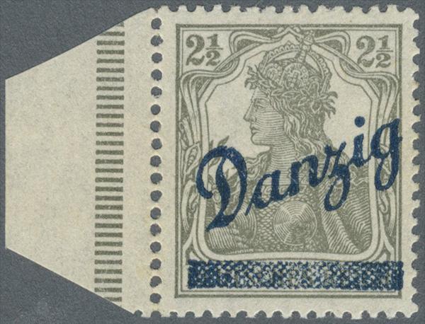 1920, 2 1/2 Pfg. Germannia, sog.