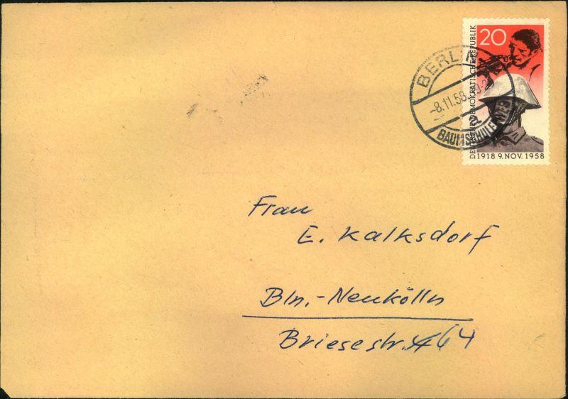 1958, Ortsbrief mit 20 Pfg.
