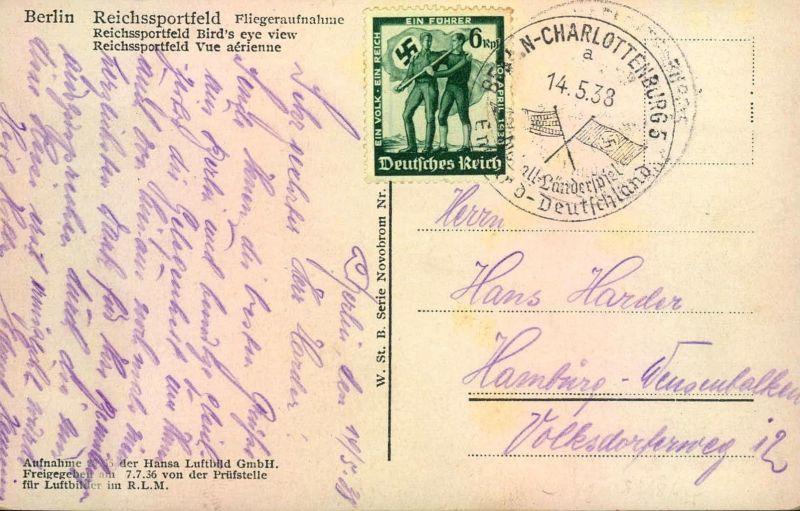 1938, Fussball-Länderspiel ENGLAND-DEUTSCHLAND, Ak Reichssportfeld
