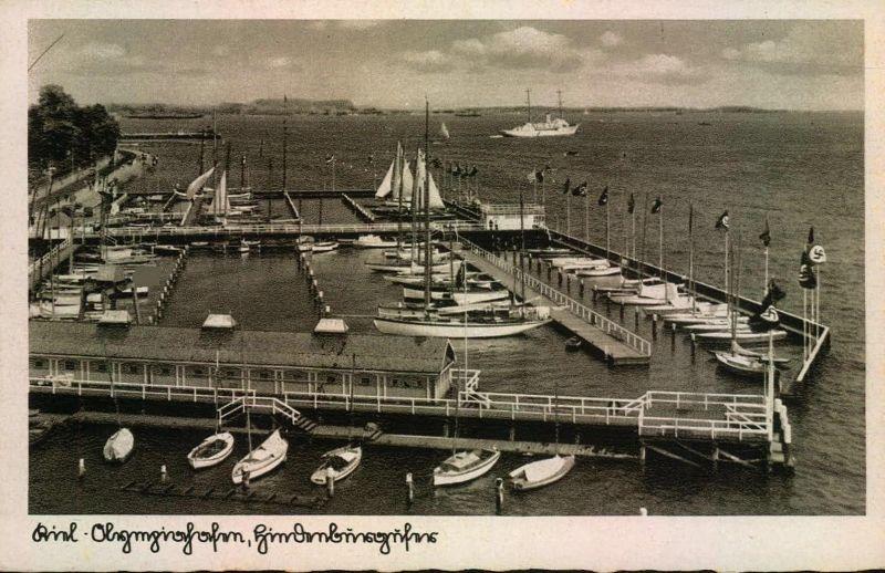 1936, KIEL Olympiahafen - AK ungebraucht