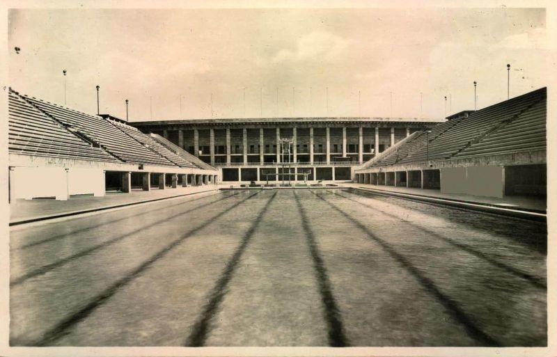 1936, Reichssportfeld, Olympia Schwimmstadion - seltenere AK ungebraucht
