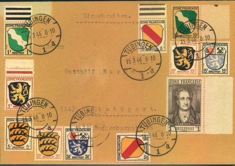 1946, Allgemeine Ausgabe, Michel-Nr. 1-11, Satzbrief