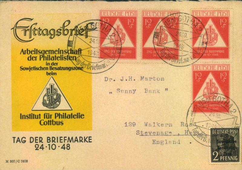 1949, interessanter Auslandsbrief - Innstitut für Philatelie Cottbus
