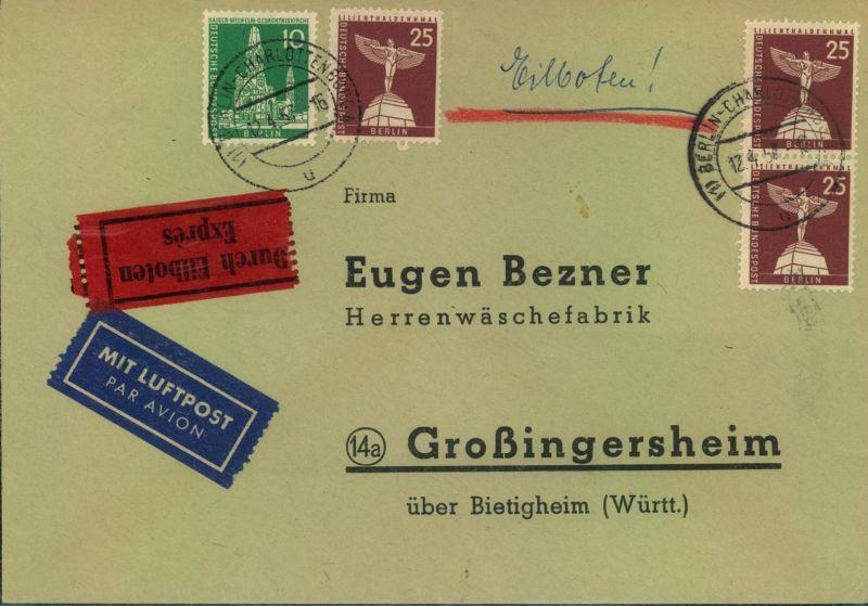 1957, Luftpost-Eilbrief