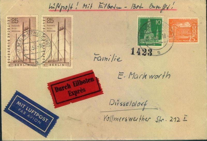 1956, Luftpost-Eilbrief