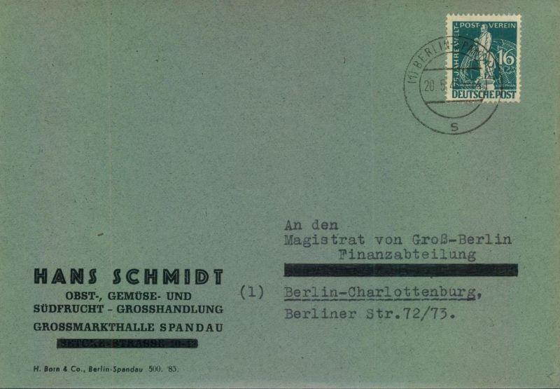 1949, Ortsbrief 16 Pfg. Stephan