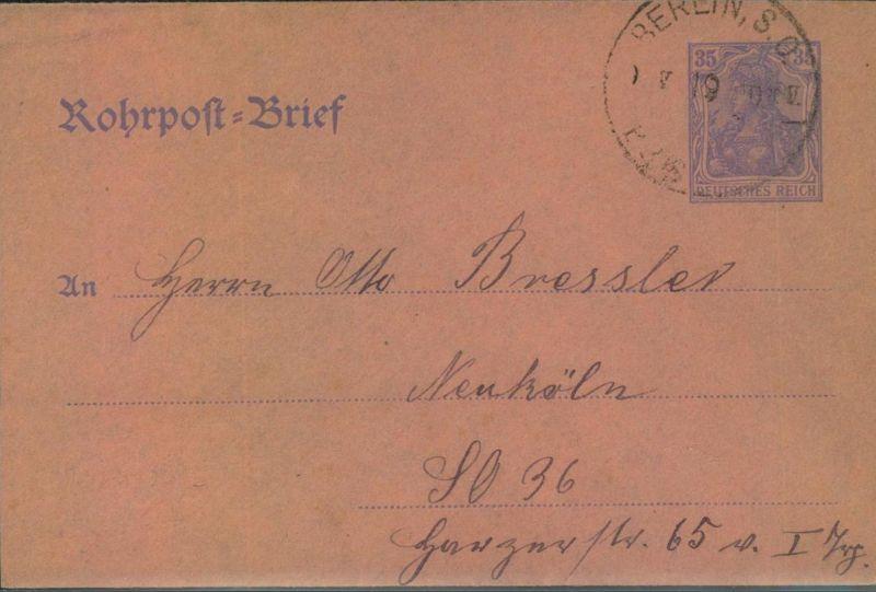 1919, BERLINER POSTGESCHICHTE, Rohpostumschlag, Vordruck