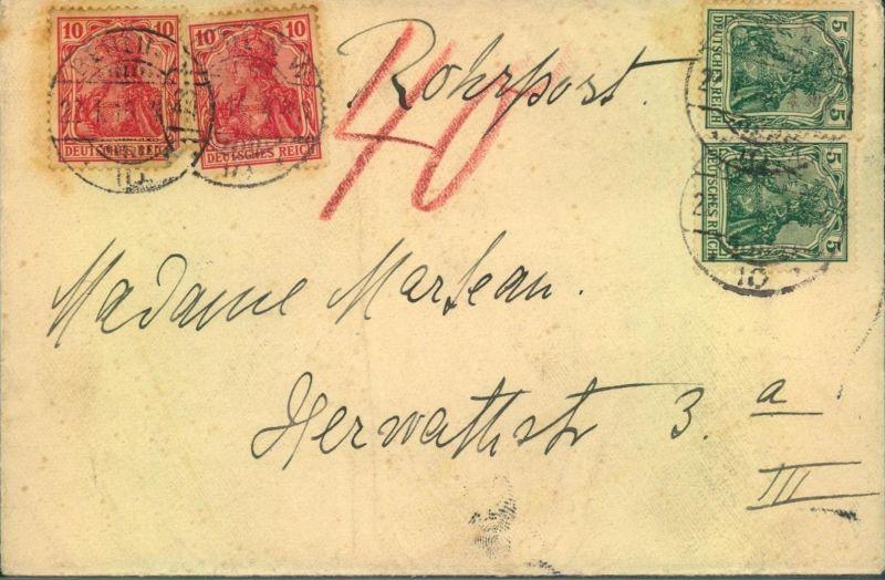 1889, BERLINER POSTGESCHICHTE, Rohrpost Germania