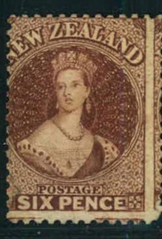 1864/1867, 6 d QV perforated 12 1/2 unused without gum.