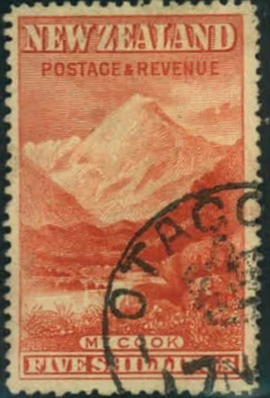1898, 5 sh Mount cook, fine used. (cv £ 400)
