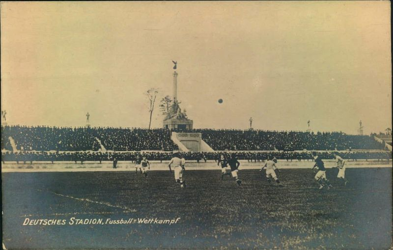 1913/1916, DEUTSCHES STADION BERLIN sauber ungebrauchte Ansichtskarte. Gebaut zu den geplante Olympischen Spielen 1916,