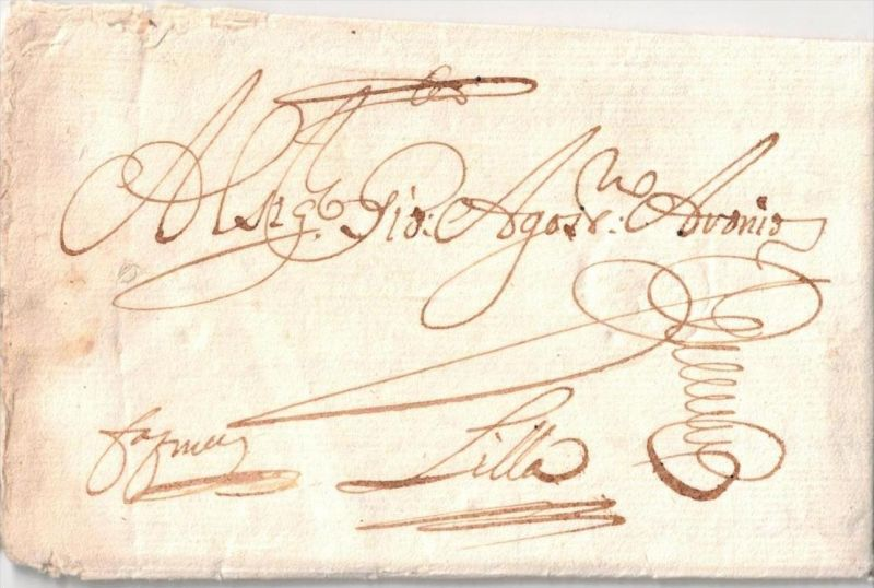 1679, early folded letter with full content sent from FIRENZE.
