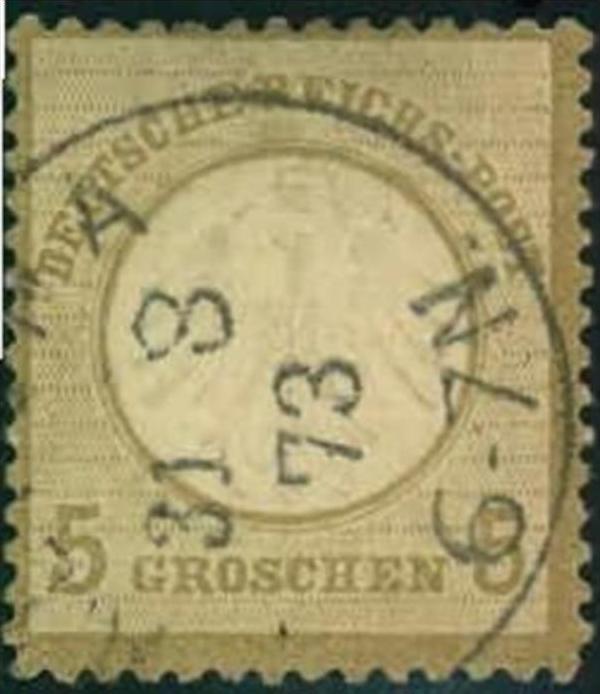 1872, 5 Groschen kleiner Brustschild - Michel 120,-