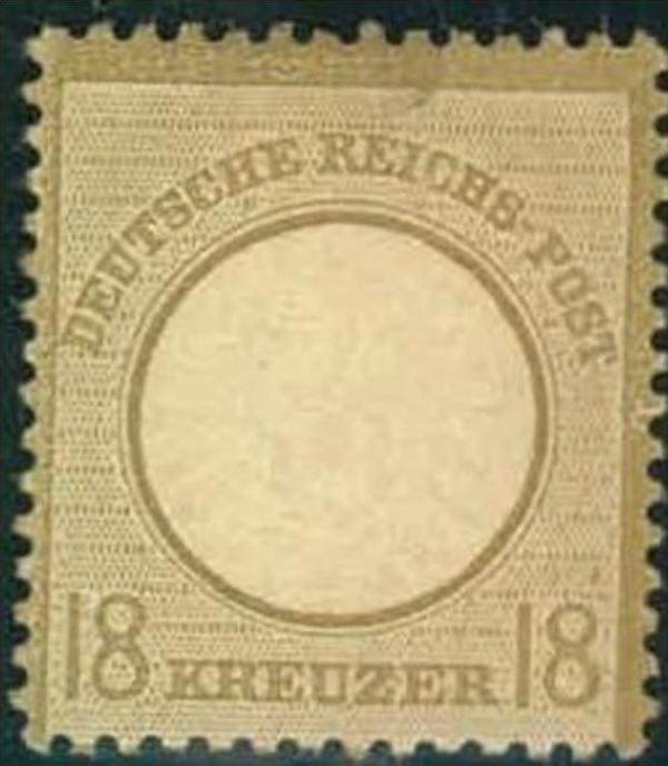 1872, 18 Kreuzer großer Brustschild entfalzt mit Originalgummi