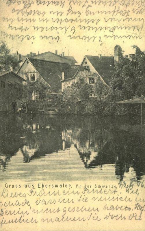 1922, Gruss aus EBERSWALDE nach Niederschönhausen (Berlin-Pankow)