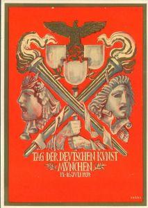 1939, Tag der Deutschen Kunst - München mit Marke und Sonderstempel.