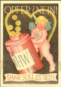 1938/1939, Winterhilfswerk Postkarte ungebraucht mit Marke.