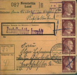 Liquidation Deutsches Reich stark reduziert - NEUSTETTIN (LAND)