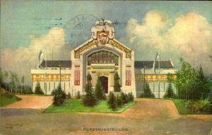 1906: NÜRNBERG Forstausstellung, Anlasskarte mit Maschinenstempel