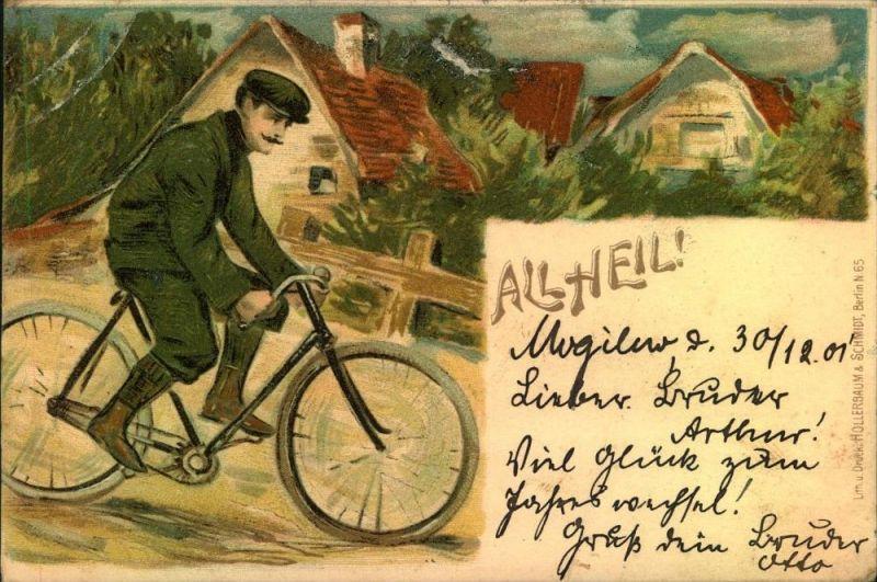 1901, All Heil, geschrieben in MOGLINO nach Wongrowitz