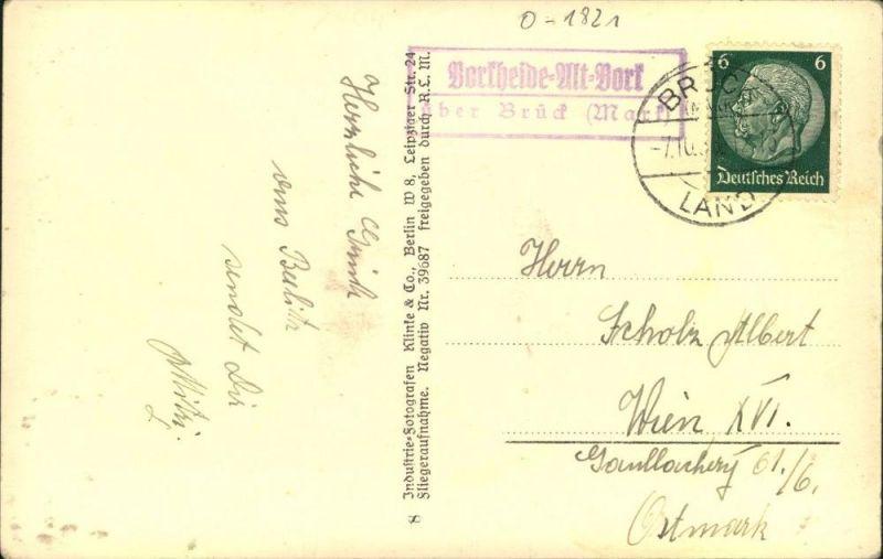 BRANDENBURG : Borkheide-Alt-Mark  über Brück (Mark) , 1938, Posthilfsstellen Stempel
