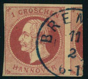 1 Groschen mit ca. 1/4 Nebenmarke, BREMEN