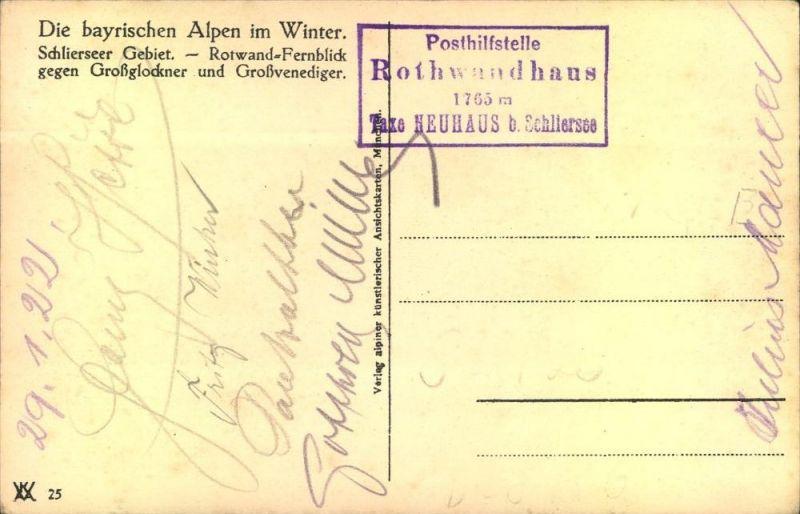 Posthilfstelle Stempel Rotwandhaus