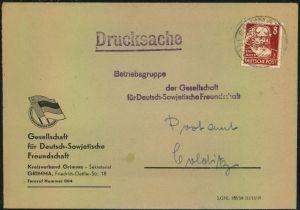 1950, Drucksache 8 Pfg. Köpfe I