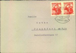 1961, 60 Groschen waag. Paar, Brief im Sondertarif ab RIETZLERN KLEINWALSERTAL