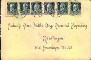 1916, 2 1/2 auf 2 Pfg. Ludwig III als MeF auf Brief ab BAMBERG