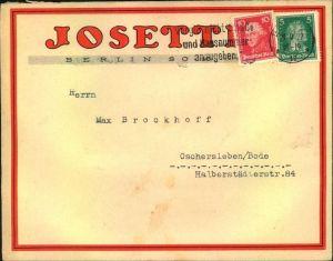 1927, advertising covers, lettre publicite, Reklame, Werbung, Tabak, Berlin