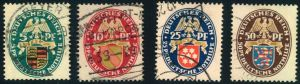 1926, Nothilfe komplett gestempelt (Mi-Nr. 398/401 - 160,-)