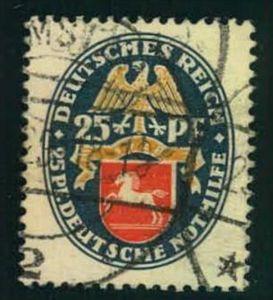 1928, 25 Pfg. Nothilfe gestempelt (65,-)
