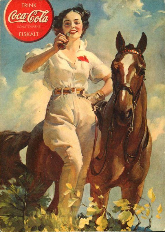 WERBUNG, Deutsche Coca Cola, ungebrauchte Karte nach dem Druckvermerk anscheinend auf 1939.
