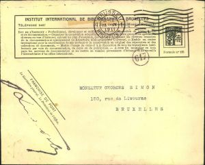 1911, postage free letter (