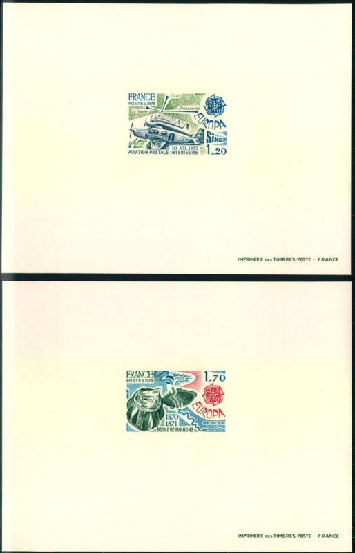 1979, EUROPA  CEPT FRANCE imperforated proof, non dentele, ungezähnte Probe