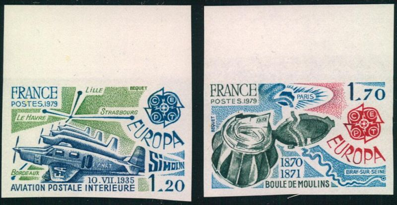 1979, EUROPA  CEPT FRANCE imperforated, non dentele, ungezähnt
