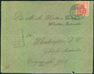 1910, 10 Pfg. Germania auf Brief zum Sondertarif