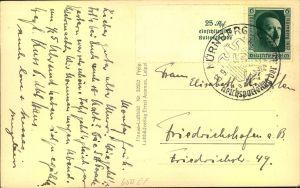 1937, Postkarte mit Marke aus Block 11 und Sonderstempel REICHSPARTEITAG.