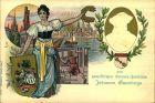 1900, ungebrauchte Privatpostkarte zum 500. Geburtstag Gutenbergs im Design der Jahrhundertkarte.