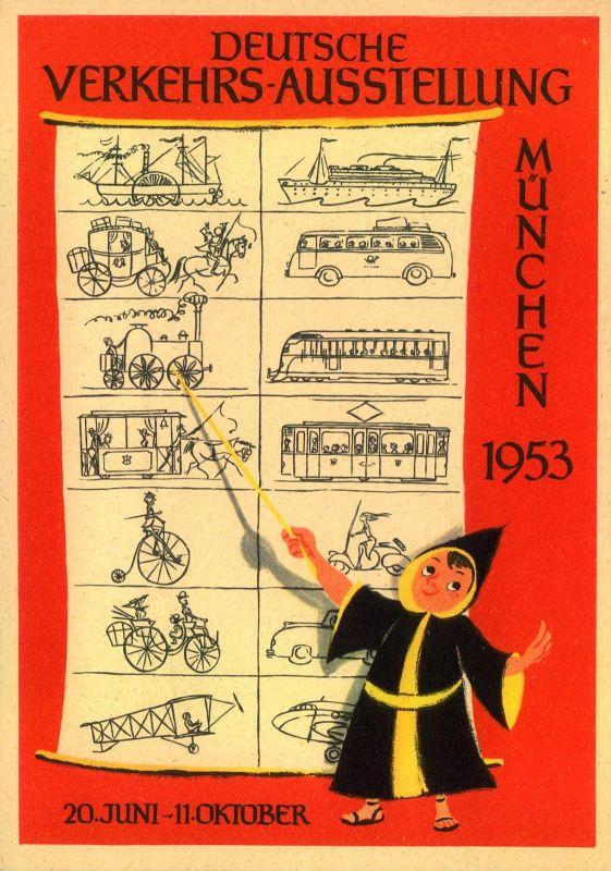 1953, DEUTSCHE VERKEHRSAUSSTELLUNG M;ÜNCHEN