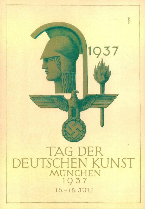1937, DEUTSCHE KUNSTAUSSTELLUNG; MÜNCHEN - Propaganda