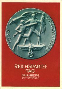 1938, Propagandakarte Reichsparteitag 1938, Sonderstempel NÜRNBERG 8.9.38