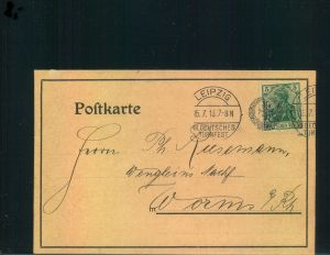 Auflösung: Stempelsammlung Deutsches Reich - LEIPZIG  XII. DEUTSCHES TURNFEST 1913