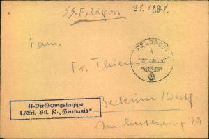 1940, Feldpostbrief